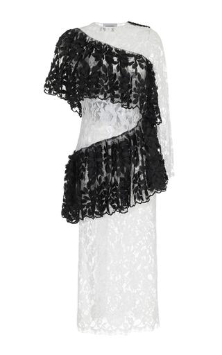 Medium rasario white ruffle lace midi dress