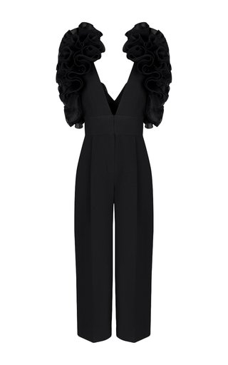 Medium rasario black ruffle sleeve jumpsuit