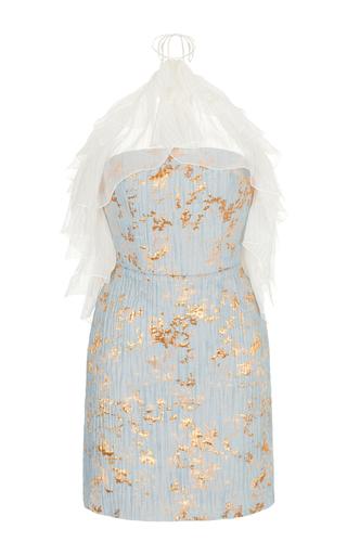 Medium rasario blue halter mini dress