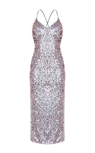 Medium rasario pink sequin pencil dress