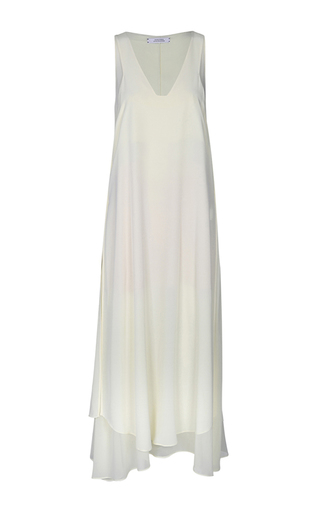 Medium dorothee schumacher neutral dancing volume sleeveless midi dress