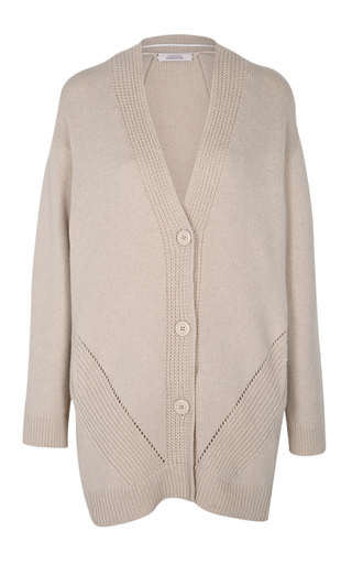 Medium dorothee schumacher neutral soft play v neck cardigan
