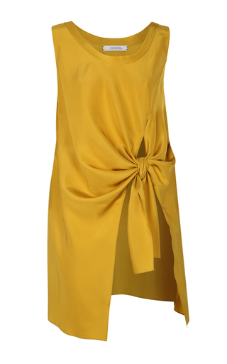 Medium dorothee schumacher yellow knot it up sleeveless tank