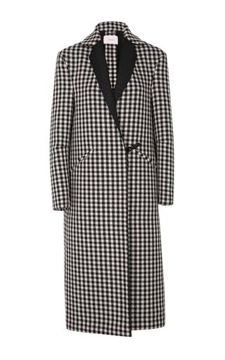 Medium dorothee schumacher black white cool check midi coat