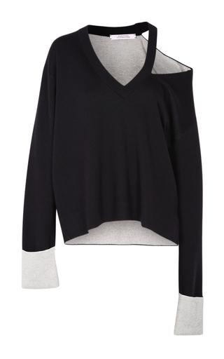 Medium dorothee schumacher black elegant ease v neck top