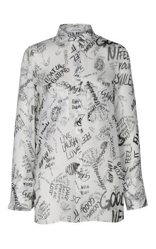 Medium dorothee schumacher black white good news long sleeve blouse