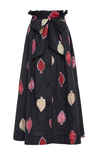 Medium sissa black larissa floral midi skirt