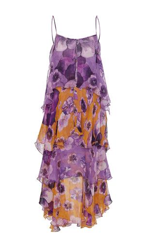 Medium sissa print betania ruffle midi dress
