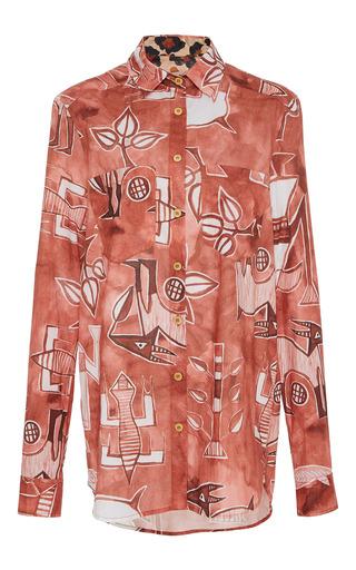 Medium sissa orange isabel printed shirt