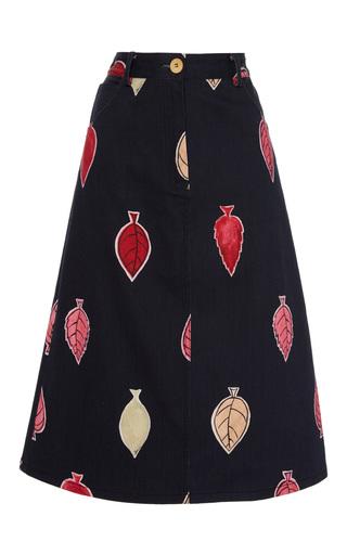 Medium sissa black elisa print skirt
