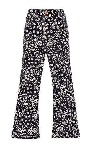 Medium sissa floral estela cropped trousers