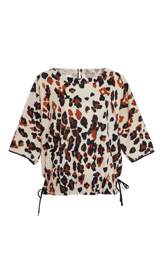 Medium sissa print maria animal print top