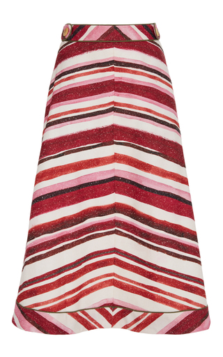 Medium sissa stripe mari stripe skirt