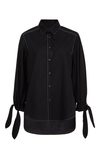 Medium sissa black sonia button down top