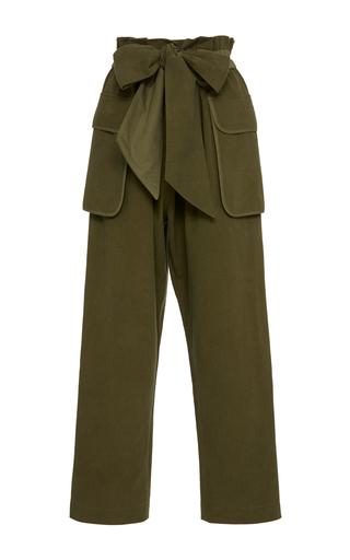 Medium sissa green francisca bow pants