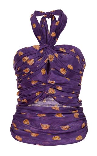 Medium sissa purple tania halter top