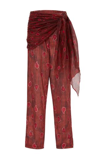 Medium sissa red amalia side tie print pants