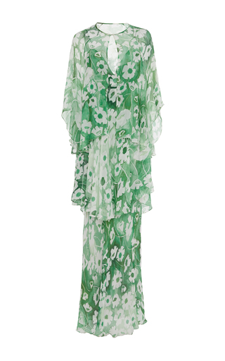 Medium sissa floral yasmine floral chiffon gown