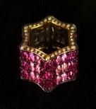 Medium gioia pink gallia ring