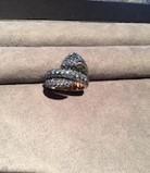 Medium gioia blue serpent ring i