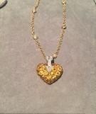 Medium gioia yellow heart and arrow pendant on diamond angel chain