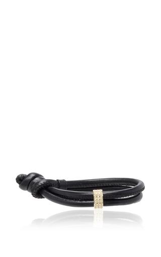 Medium mizuki black black single wrap bracelet with diamond slider
