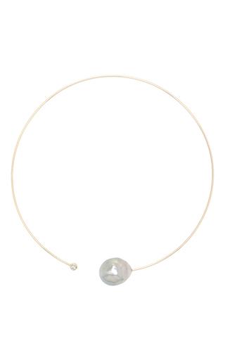 Medium mizuki gold large baroque pearl and diamond collar 2