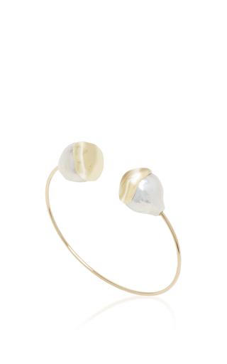Medium mizuki white fluid double pearl cuff 2