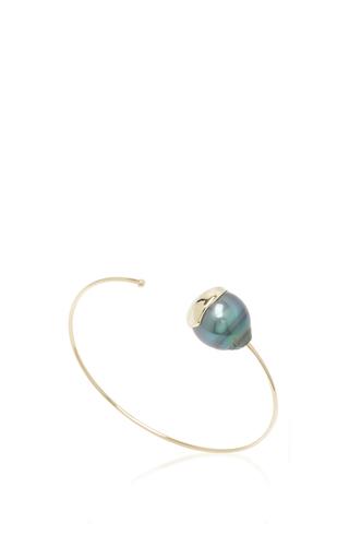 Medium mizuki black fluid pearl cuff 2