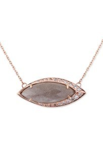 Medium jacquie aiche gold 14k rg pave marquise labradorite necklace