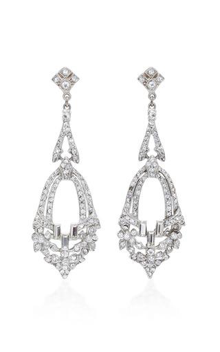 Medium ben amun silver antique silver crystal earring