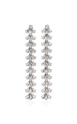 Medium ben amun silver antique linear fan earring