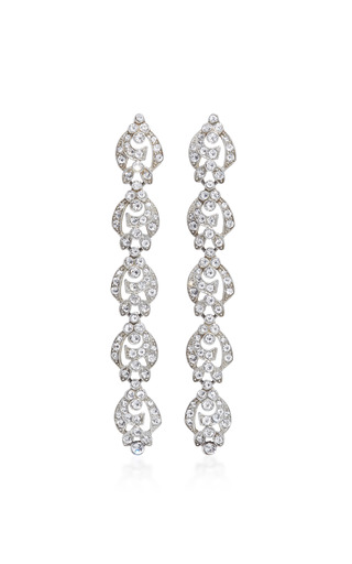 Medium ben amun silver antique 5 stations earring
