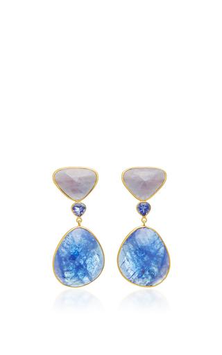 Medium bahina blue tanzanite and sapphire earrings