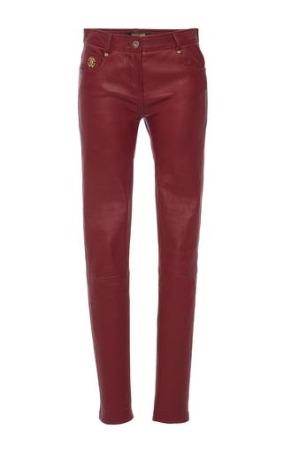 Medium roberto cavalli burgundy mid rise skinny jeans