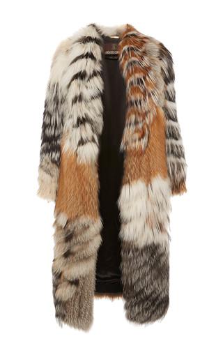Medium roberto cavalli multi midi length fur coat
