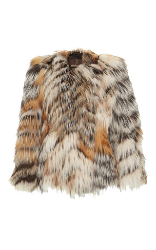 Medium roberto cavalli multi long sleeve short fur coat