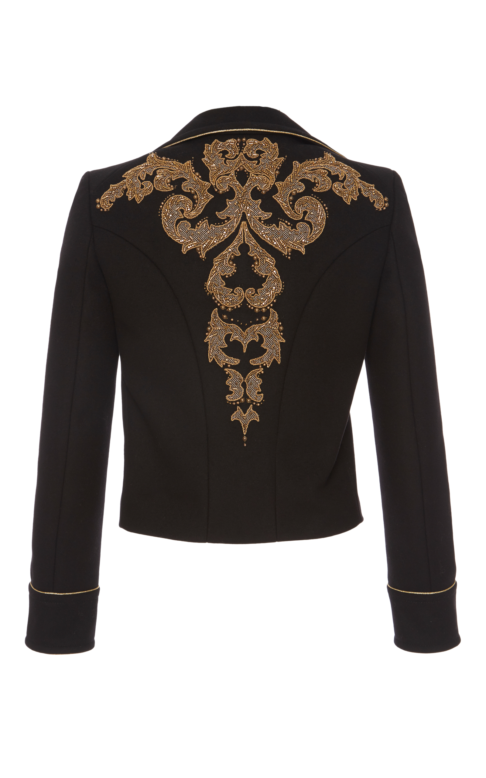 Embroidered military jacket by roberto cavalli moda operandi
