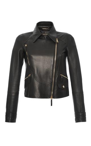 Medium roberto cavalli black leather biker jacket