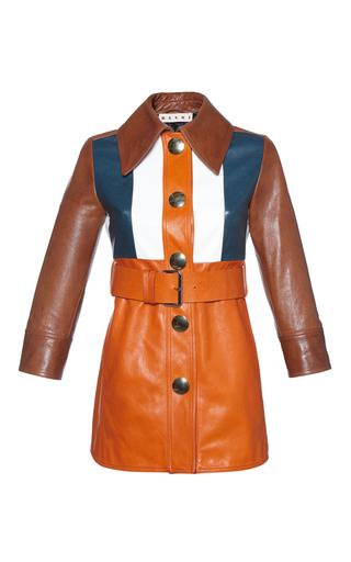 Medium marni multi color block leather jacket