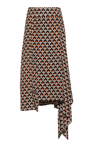 Medium marni print asymmetrical hem skirt