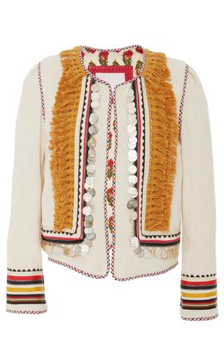Medium alix of bohemia neutral bedouin tassel trim jacket