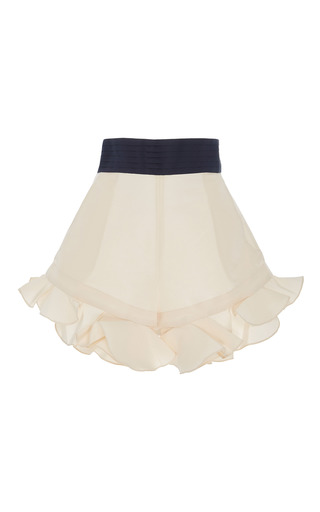 Medium johanna ortiz neutral harbour ruffle shorts