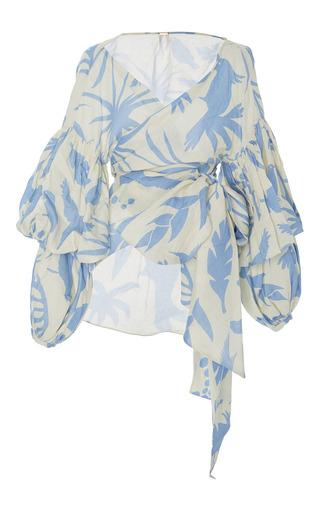 Medium johanna ortiz print marina printed wrap blouse