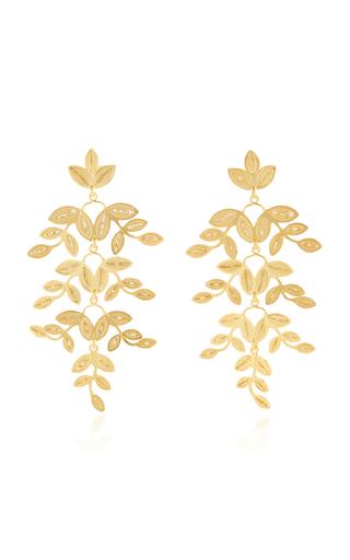 Medium mallarino gold gabriella leaf earrings