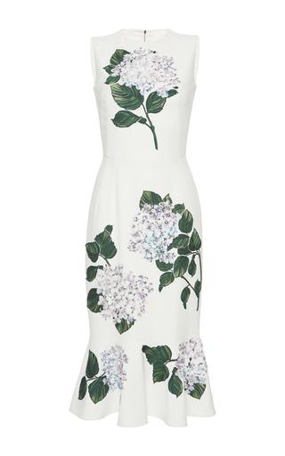 Medium dolce gabbana white floral appliqued dress