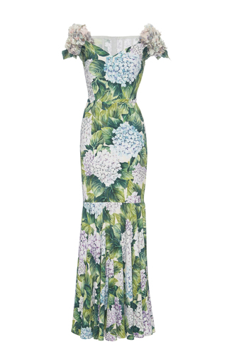Medium dolce gabbana print appliqued floral print gown