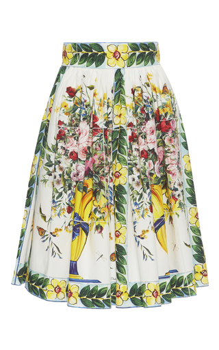 Medium dolce gabbana print floral print cotton skirt