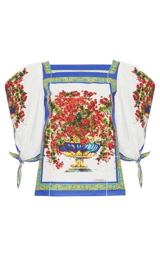 Medium dolce gabbana print printed cotton blouse