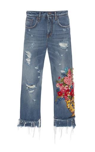 Medium dolce gabbana blue embellished high rise jeans